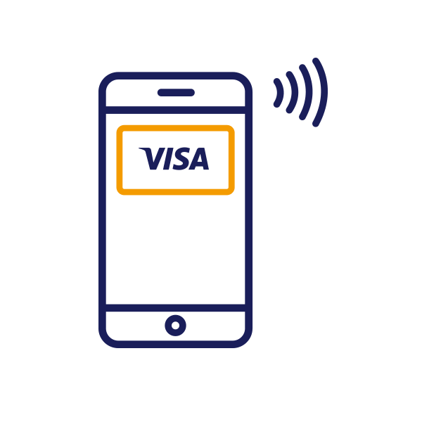 Where can I use Visa on my mobile?